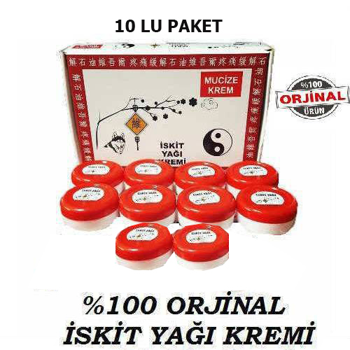 İskit Yağı Kremi 10lu Set